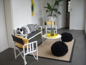 Armadale Pool House [Amazon Cyclone Sisal rug with black edging]