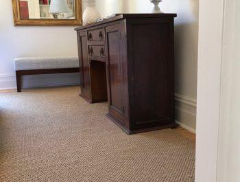 Armadale house [Driftwood Sisal rug with fold over edges and cushion pad underfelt]