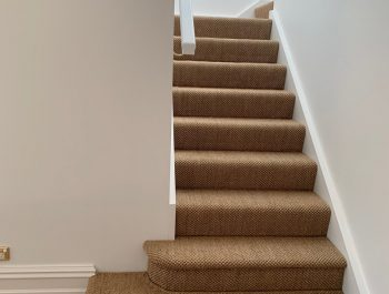 Driftwood Sisal on stairs in waterfall style