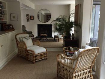Driftwood Sisal rug with overturned edge [Brighton house]