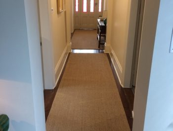 Richmond house [Driftwood Sisal rugs with foldover edging and underlay]